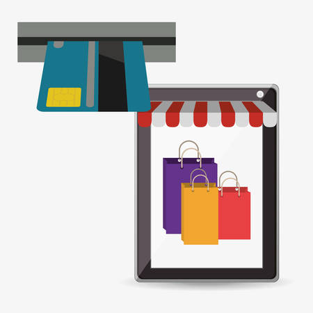 e commerce icon: electronic commerce design, vector illustration eps10 graphic
