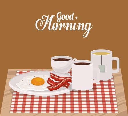 morning breakfast: good morning breakfast design, vector illustration eps10 graphic Illustration