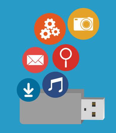 pen drive: pen drive design, vector illustration eps10 graphic Illustration