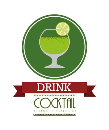 stiker: fresh cocktail design, vector illustration eps10 graphic Illustration