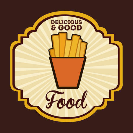 deliciousand good  food design, vector illustration eps10 graphic Illustration