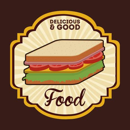 comida rica: deliciousand buen diseño comida, ejemplo gráfico vectorial eps10