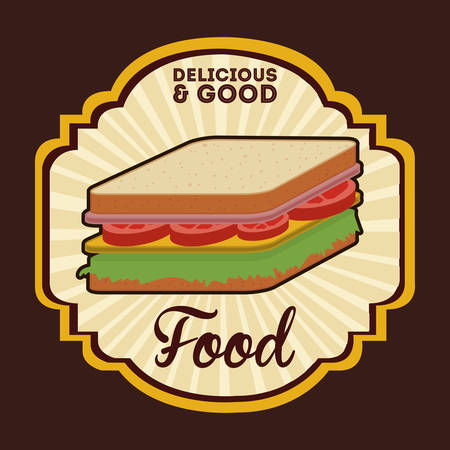 good food: deliciousand good  food design, vector illustration eps10 graphic Illustration