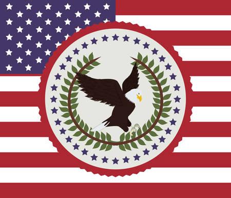 emblematic: usa emblematic seal design, vector illustration eps10 graphic Illustration