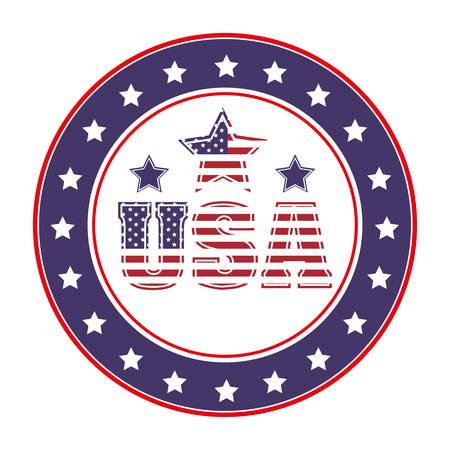 アメリカの象徴的なシールのデザイン、ベクトル図 eps10 グラフィック