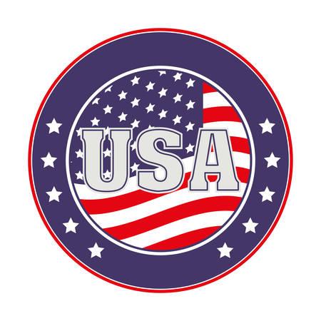 usa emblematic seal design, vector illustration eps10 graphic Illustration