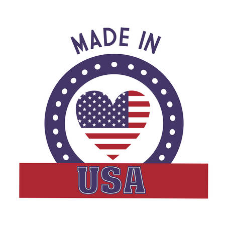 emblematic: usa emblematic seal design, vector illustration eps10 graphic Illustration