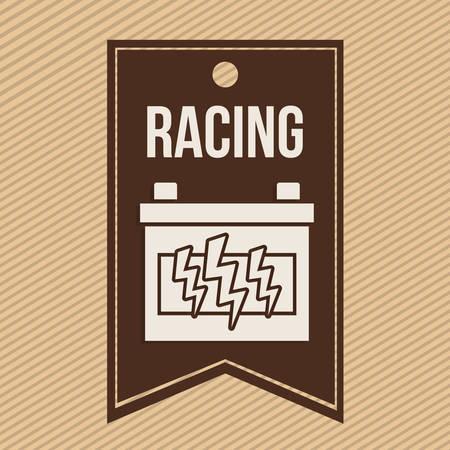 league: racing league design, vector illustration