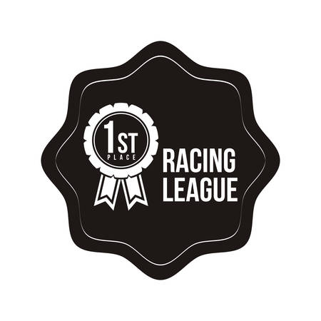 league: racing league design, vector illustration