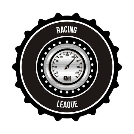 racing sign: racing league design, vector illustration