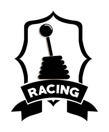 shifter: racing league design, vector illustration