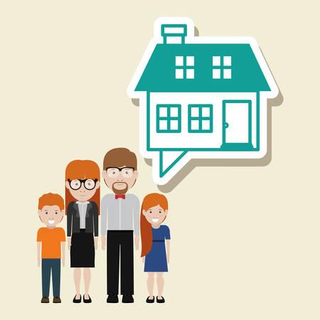 happy family design illustration graphic