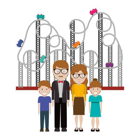 happy family: happy family design illustration graphic