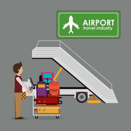 travel bag: airport industry design illustration graphic