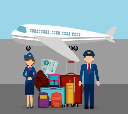 piloto: industria aeroportuaria ejemplo del diseño gráfico