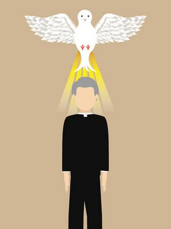 sacerdote: Dise�o de la religi�n cat�lica, ilustraci�n vectorial gr�fico eps10