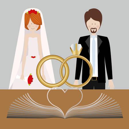 catholic wedding: Catholic religion design, vector illustration eps10 graphic Illustration