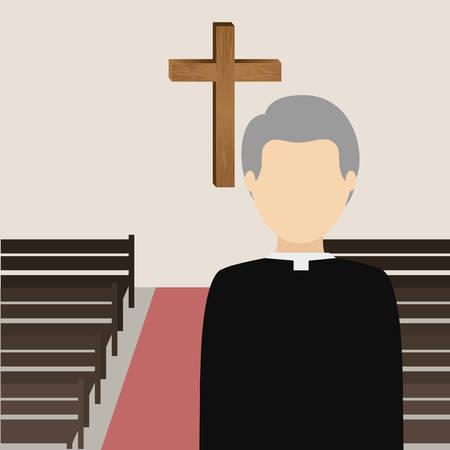 priest: Catholic religion design, vector illustration eps10 graphic Illustration
