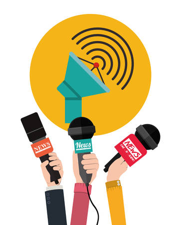 antena: broadcasting concept design, vector illustration eps10 graphic