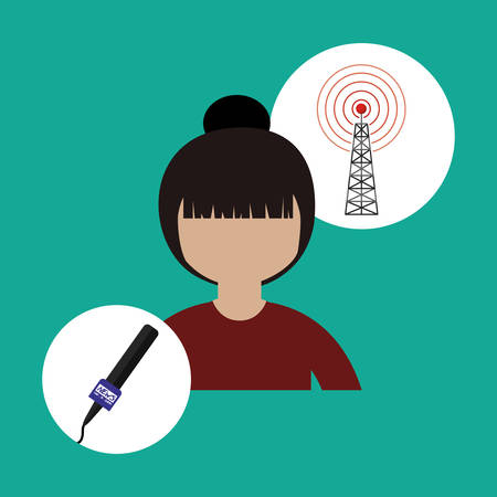 antena: broadcasting concept design, vector illustration eps10 graphic