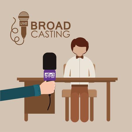 broadcasting: broadcasting concept design, vector illustration eps10 graphic