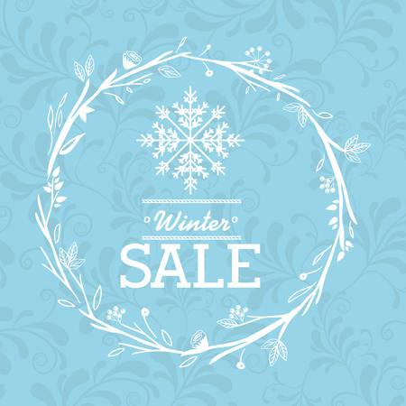 crown background: winter sale design, vector illustration eps10 graphic