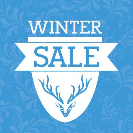 chunk: winter sale design, vector illustration eps10 graphic