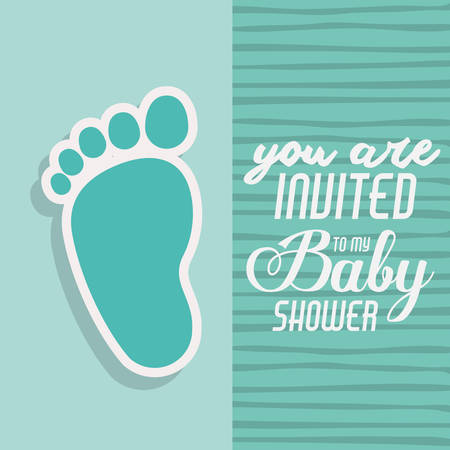 you are invited: baby shower invitation design, vector illustration eps10 graphic