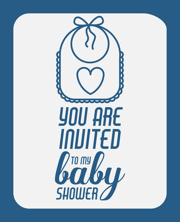 you are welcome: baby shower invitation design, vector illustration eps10 graphic