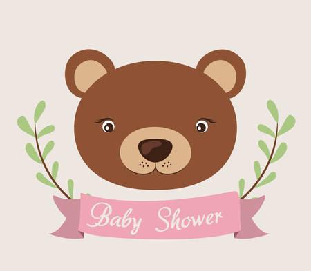 baby shower invitation design, vector illustration eps10 graphic