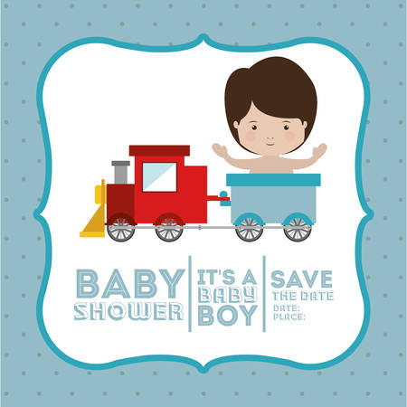 nacimiento de bebe: beb� dise�o de invitaci�n de la ducha, ilustraci�n vectorial gr�fico eps10 Vectores