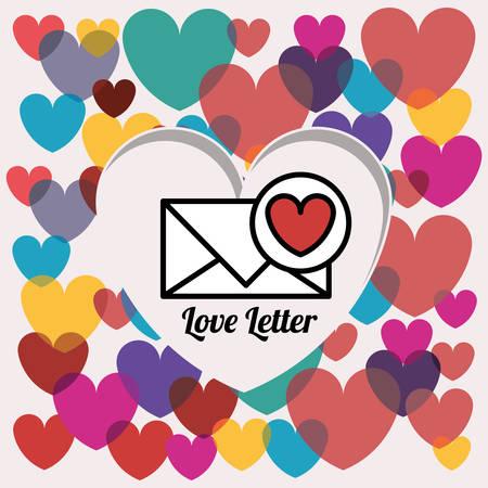 love letter: love letter design, vector illustration eps10 graphic