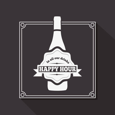 drink bottle: beverage menu design, vector illustration eps10 graphic