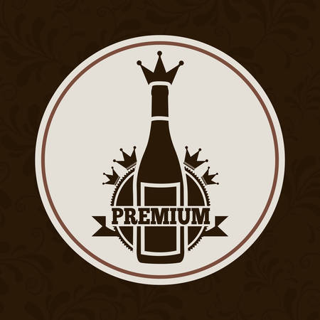 botella de licor: bebida dise�o del men�, ilustraci�n vectorial gr�fico eps10