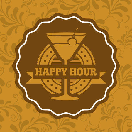 hour glass: beverage menu design, vector illustration eps10 graphic