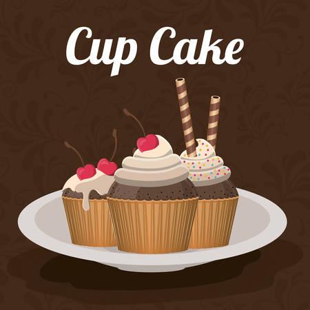 cupcake illustration: delicious cupcake design, vector illustration eps10 graphic Illustration