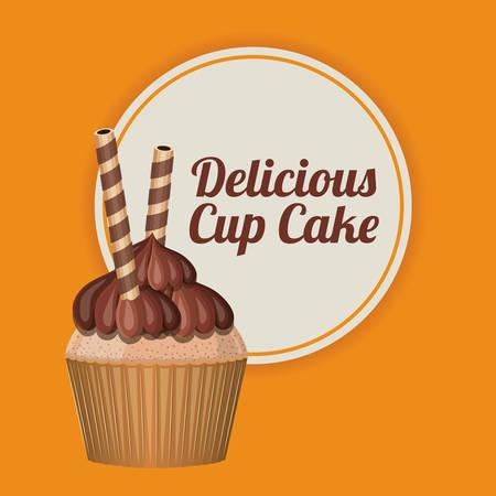 cupcake illustration: delicious cupcake design, vector illustration   Illustration