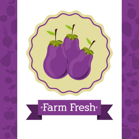 fresh food: farm fresh food design, vector illustration  Illustration