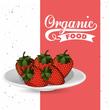 fresh food: farm fresh food design, vector illustration eps10 graphic Illustration