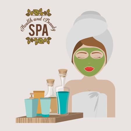 cremas faciales: dise�o de centro de spa, ilustraci�n vectorial gr�fico eps10