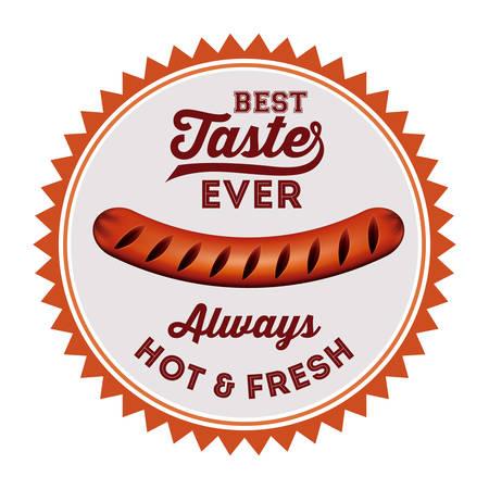 delicious: delicious sausage design illustration graphic Illustration