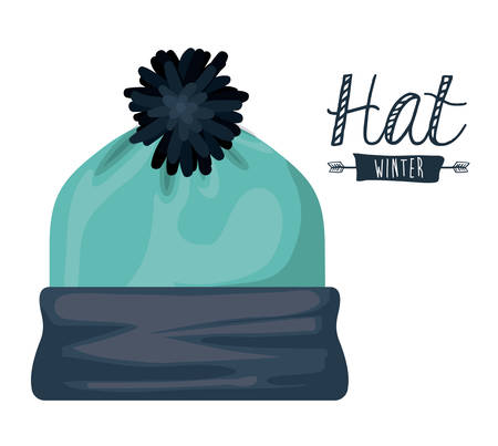 winter illustration: winter clothing design illustration graphic