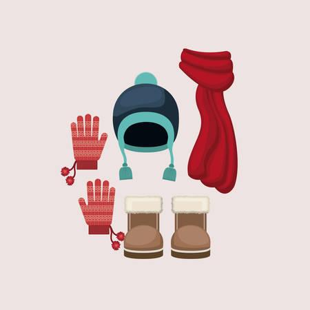 winter hat: winter clothing design illustration graphic