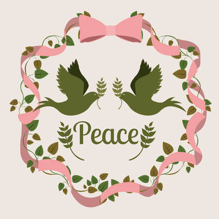 symbol of peace: mensaje de la paz diseño, ejemplo gráfico del vector eps10