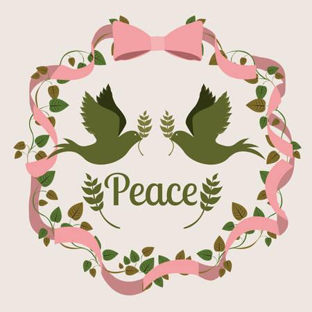 simbolo della pace: message of peace design, vector illustration eps10 graphic