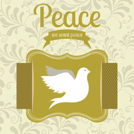 peace stamp: message of peace design, vector illustration eps10 graphic
