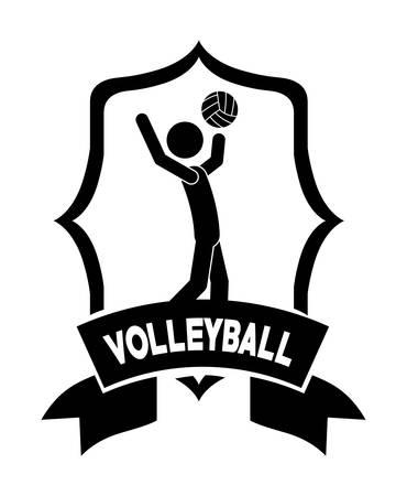 balon voleibol: personas activas diseño, ilustración vectorial gráfico eps10