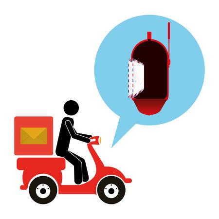 business letter: postal service design, vector illustration eps10 graphic Illustration