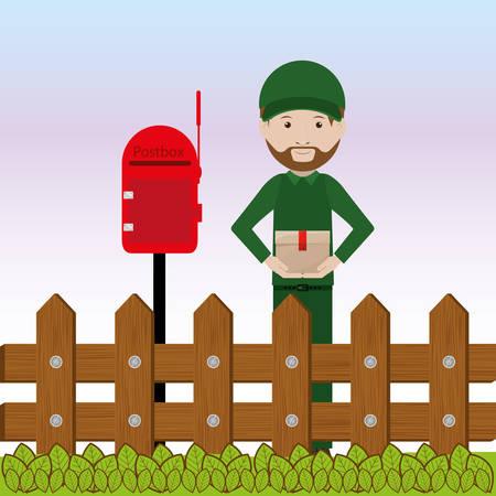 fence post: postal service design, vector illustration eps10 graphic Illustration