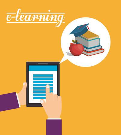 e business: e-learning concept design Illustration